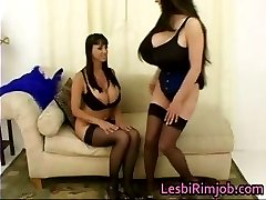 Two busty lesbians having fun part2