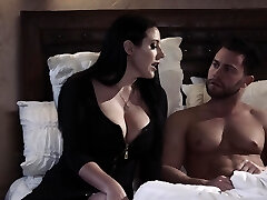 Passionate goodbye sex with curvaceous chesty milf Angela White