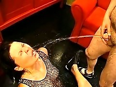 Loads of face pissing for wild beautiful cutie