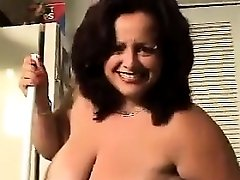 Big Woman With Big Tits Cleaning