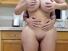Super-fucking-hot Mom Fucking in kitchen