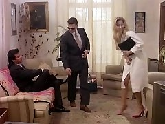 Business girl in retro porn happy to gives in ass and slit