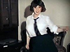 WHOLE LOTTA ROSIE - vintage big tits college girl strip dance