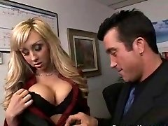 Boss with Ample Tits Gives Her Employee an Early Bonus