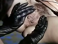 Vintage Lesbians Licking Uber-sexy Black Boots And Juicy Pussies