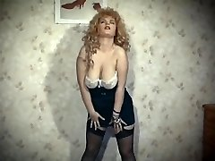 THE SKIN TRADE - vintage 80's enormous tits blonde de-robe dance