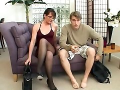 Cougar loves to play with a big man sausage