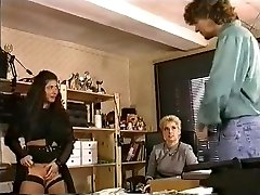 In the Office a Big Tits try Girly-girl Handballing and Assfuck Fuck