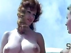 Vintage nudist camp scene