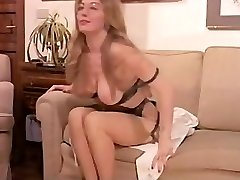 Antique Hairy Mature has a Threesome and DP in Lingerie!