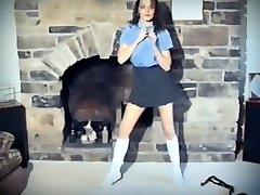 A QUESTION OF TIME - vintage Brit school girl strip dance