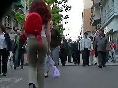 Killer ginger in tight pants voyeur video for free-for-all