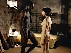 Dark-haired white girl with black lover - Softcore Interracial