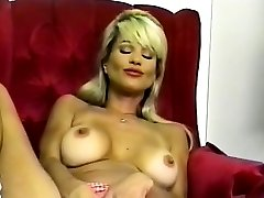 HOT Big-boobed Blonde Striptease and Fingering 2016