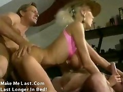 Old School porn with huge tits blonde banged by 2