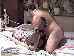 Vintage Fledgling Bondage (magnificent girl and hairy fuck)