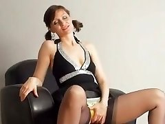 Kirsty Blue Milks With Her Panties On