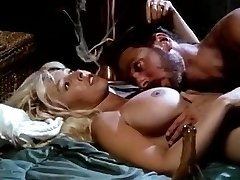 Victoria Paris, Steve Drake in chesty bimbo in ebony boots performs vintage sex
