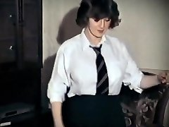 Whole LOTTA ROSIE - vintage big tits schoolgirl strip dance