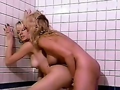 Lesbians With A Double Ended Dildo Old-school
