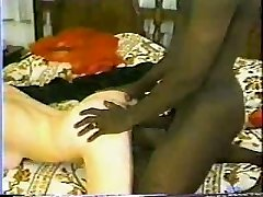 Classic Interracial - Hot Brunette Gets A Big Ebony Man Rod.elN