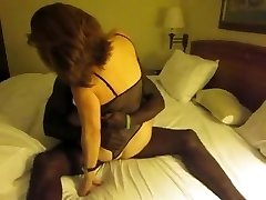 Classic black-haired wifey interacial cuckold