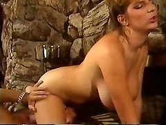Retro Mindy Rae rides twunks face with her constricted twat then bonks