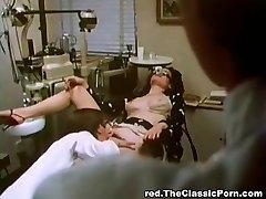 Doctor pummels sexy chick in a cabinet