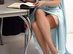 Justine Joli - Old School Girdle And Tights