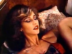 Retro Klasična - Dama v Saten Perilo Pleasuring Sama