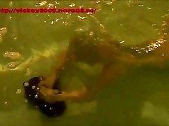 Subaquático Escravidão. Breathholding.