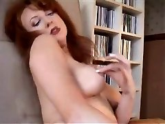 Redheaded COUGAR In Retro Undergarments