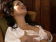 Lesbian Secretary Slurps the Hairy Poon Doctor