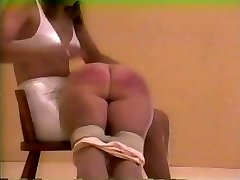 spanked in classical undergarments