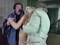 Sex-positive Platinum-blonde Humiliated Really Tough (1970s Vintage)