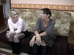 Skitne fransk diker i lesbisk handling