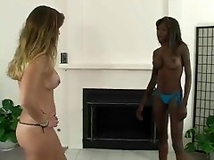 Christine vs Gem interracial catfight