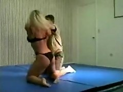 combined wrestling fbb Christine Fetzer bodybuilder scissors part Two
