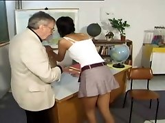 CMNF - Punished and spanked by her teacher (antique)