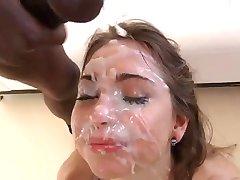 Cum Covered Face