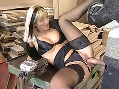 Dina Pearl Anally Fucked In Black Lingerie