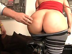 Bubble butted MILF Sara Jay rides in more ways than one