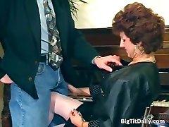 Nasty MILF maid sucks on her bosses part5