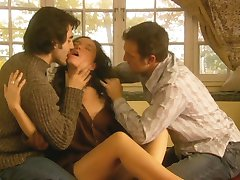 Jennifer Podemski - Bliss (Threesome erotic scene) MFM