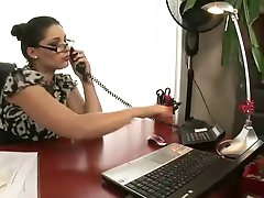 Katalin Kiraly and Zafira in office pussy play
