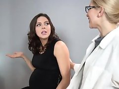 Sadie Holmes Pregnant - Doctor helps her patient to reach Orgasm
