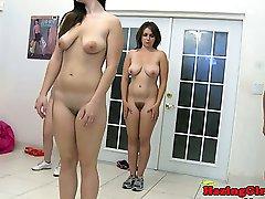 Lesbian sorority babes spanking coeds