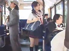 asian teen schoolgirl groped in bus