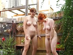Two Pissing Girls In The Garden