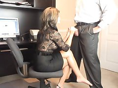MILF quente Office Oral